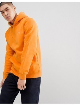 Stussy Hoodie With Back Script Logo In Apricot - Orange