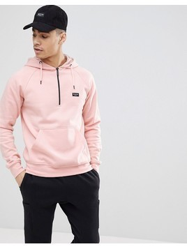 Nicce London Hoodie With Half Zip - Pink