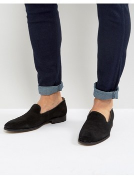 Zign Suede Loafers - Black