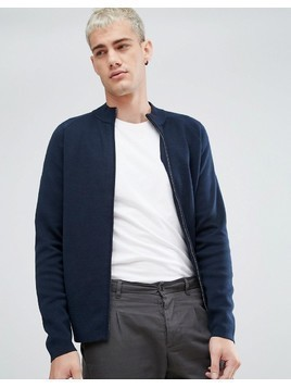 Selected Homme Knitted Cardigan - Navy