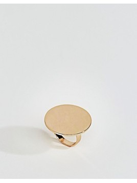 ASOS Statement Solid Circle Ring - Gold