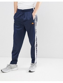 ellesse Straight Jogger With Popper Detail In Navy - Navy