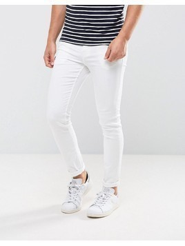 New Look Skinny Jeans In White - White