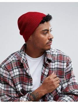 Burton Menswear Fisherman Beanie - Red