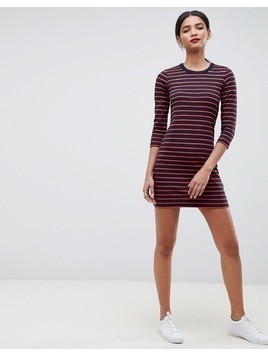 French Connection Tim Tim Stripe Jersey Dress - Grey