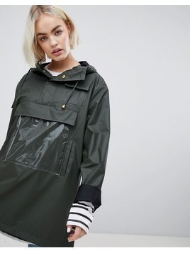 Rains High Shine Camp Anorak - Green