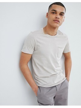 Selected Homme T-Shirt In Organic Cotton With Pocket - Grey