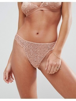 ASOS DESIGN Rita basic lace mix & match thong - Pink