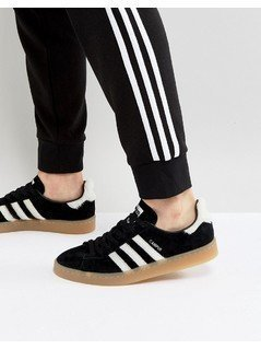 adidas Originals Campus Trainers In Black BZ0071 - Black