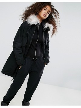 ASOS Oversized Parka with Padded Liner - Black
