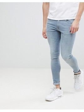 River Island Super Skinny Jeans In Mid Wash - Blue