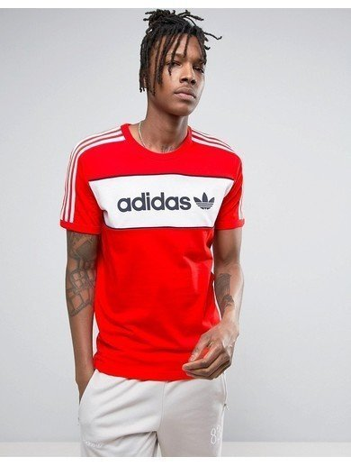 adidas Originals London Pack Block T-Shirt In Red BK7783 - Red