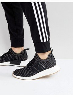 adidas Originals NMD R2 Primeknit Trainers In Black BY9696 - Black