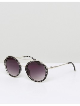 7X Round Sunglasses - Brown