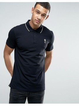 Jack&Jones Core Short Sleeve Polo Shirt with Contrast Tipping - Black