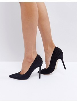 Steve Madden Paiton Corset Back Heeled Shoes - Black