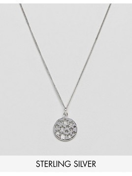 Fashionology Sterling Silver Star Tag Necklace - Silver