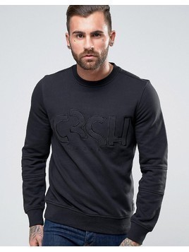 Crosshatch Logo Sweatshirt - Black