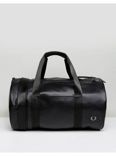 Fred Perry Pique Barrel Bag Black - Black