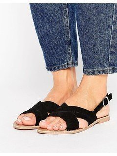 New Look Cross Strap Sandal - Black