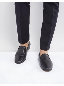 Zign Leather Smart Loafer In Black - Black