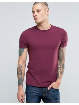 ASOS Muscle T-Shirt With Crew Neck In Red - Red
