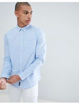 River Island Skinny Fit Shirt In Light Blue - Blue