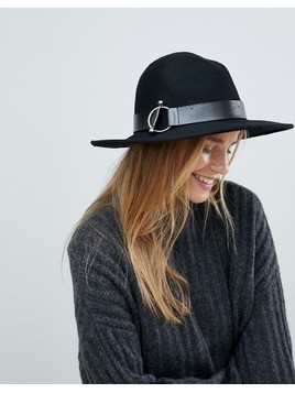Pimkie Circle Detail Trilby Hat - Black