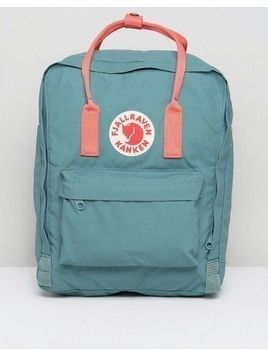 Fjallraven Classic Kanken Backpack in Green with Contrast Pink - Green