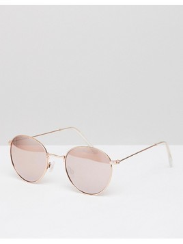 New Look Round Metal Sunglasses - Silver