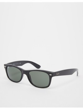 Ray-Ban Wayfarer Sunglasses Improved Fit In Black - Black