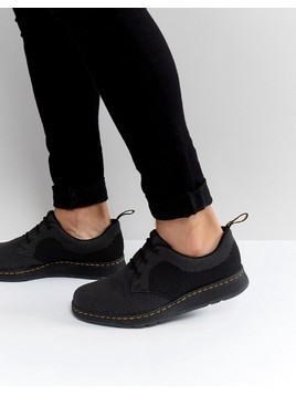 Dr Martens Lite Cavendish Knit 3 Eye Shoes - Black