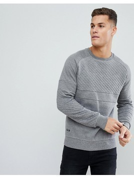 Threadbare Cut and Sew Panelled Sweater - Grey