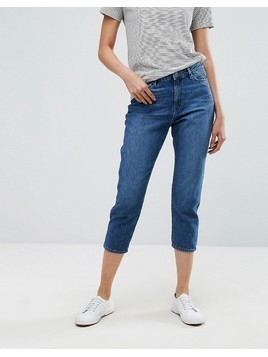 Esprit Cropped Mom Jeans - Blue
