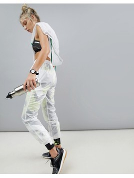 ASOS 4505 Trackpant In Sheer Reinforced Fabric - White