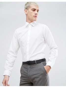Selected Homme Water Repellent Easy Iron Regular Fit Shirt - White