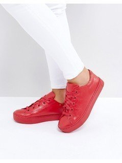 Monki Lace Up Trainer - Red