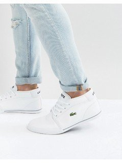 Lacoste Ampthill Leather Mid Trainers - White