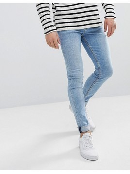 Weekday Form Ratio Blue Super Skinny Jeans - Blue