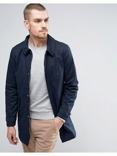 Casual Friday Mac With Covered Buttons - Navy