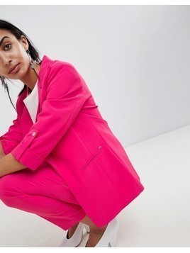 b.Young Longline Suit Blazer - Pink