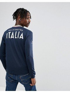 Champion Italia Back Print Long Sleeve Top - Navy