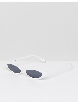 ASOS Small Cat Eye Fashion Glasses - White
