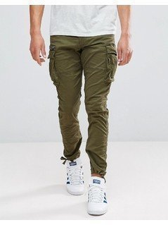 Jack&Jones Intelligence Slim Fit Cargo Trouser - Green