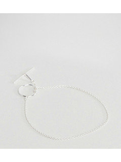 ASOS Sterling Silver Open Toggle Bracelet - Silver