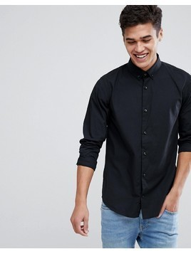 Produkt Button Down Slim Shirt - Black