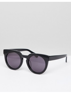 Selected Femme Handmade Acetate Sunglasses With Hard Case - Black