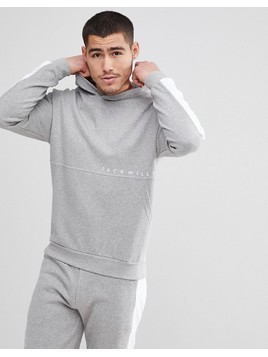 Jack Wills Langley Colour Block Hoodie in Grey - Grey