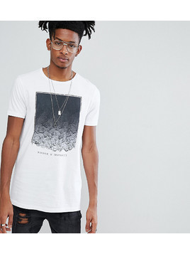 Noose&Monkey Longline Printed T-Shirt With Logo - White