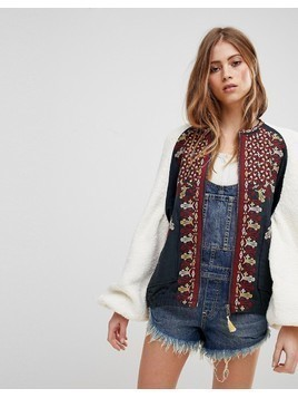 Free People Two Faced Embroidered Jacket - White